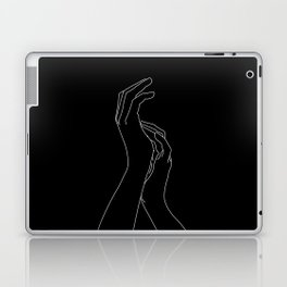 Hands line drawing illustration - Carly Black Laptop & iPad Skin