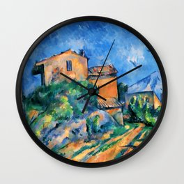"""Paul Cezanne """"Maison Maria with a View of Chateau Noir"""" Wall Clock"""