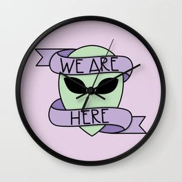 We Are Here (Purple) Wall Clock