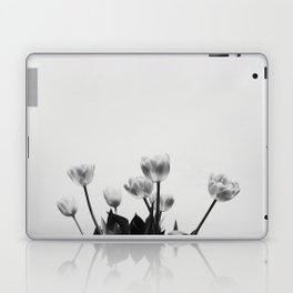 Black & White Tulips Laptop & iPad Skin