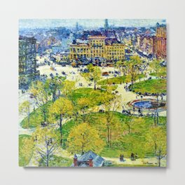 Classical Masterpiece 'Union Square in Spring' by Frederick Childe Hassam Metal Print