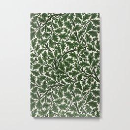 Green Oak Tree by John Henry Dearle for William Morris Metal Print
