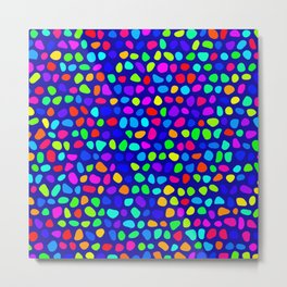 Colored points Metal Print