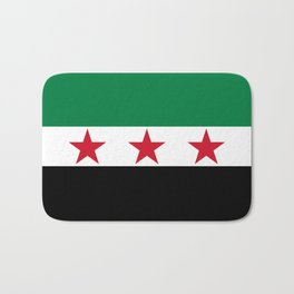 Independence flag of Syria Bath Mat