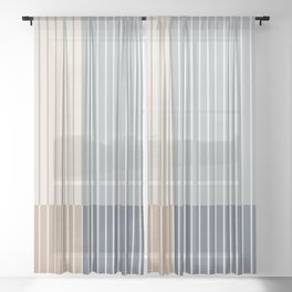 Color Block Line Abstract XVII Sheer Curtain