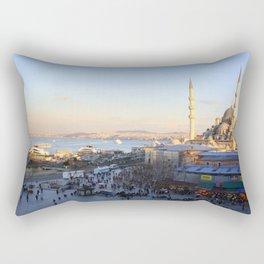 Bazaar and a mosque in Istanbul  Rectangular Pillow