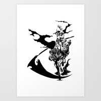 durarara Art Prints featuring Celty & Shooter by Prince Of Darkness