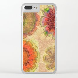 Nonpacificatory Structure Flowers  ID:16165-075207-87310 Clear iPhone Case