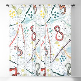 Seamless Pattern with Numbers. Scandinavian Style. Unique Design. Blackout Curtain