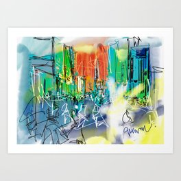 Bricklane hangover Art Print