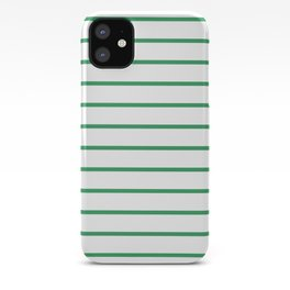 Kelly Green Breton Stripes iPhone Case