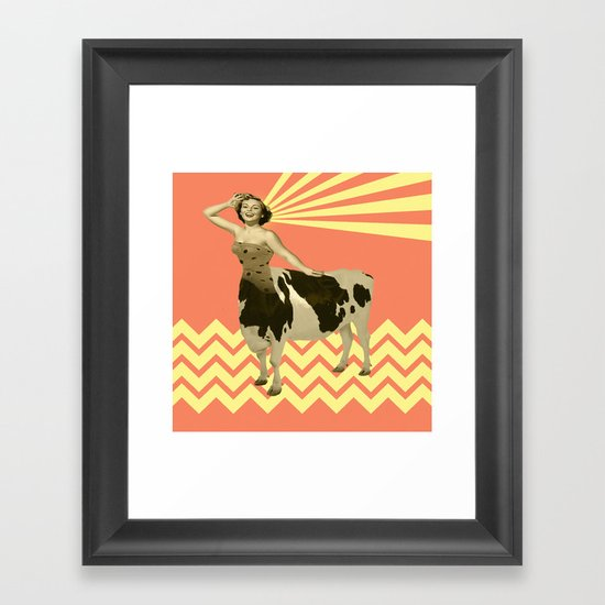 The real girly cow girl Framed Art Print