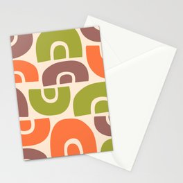 Mid Century Modern Abstract Composition 514 Stationery Cards