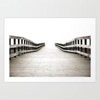 boardwalk empire Art Prints featuring Boardwalk by Shaun Lowe