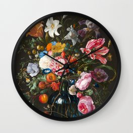 Vase of Flowers - de Heem Wall Clock
