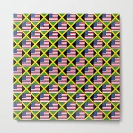 Mix of flag: Usa and jamaica Metal Print