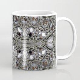 girly chic glitter sparkle rhinestone silver crystal Coffee Mug