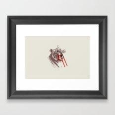 Light Saber Tooth Tiger Framed Art Print