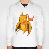 charizard Hoodies featuring Charizard Whale by CoolBreezDesigns