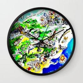 Mijas Map Wall Clock