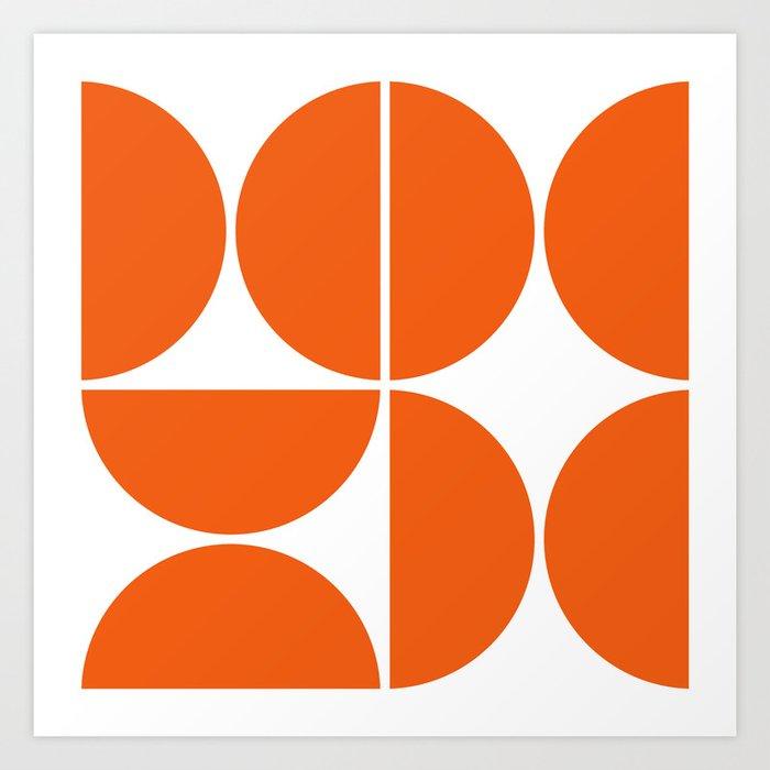 Mid Century Modern Orange Square Kunstdrucke