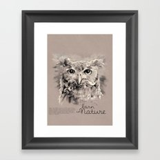 Owl (BornInNature) Framed Art Print