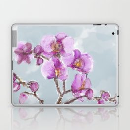 Watercolor Orchids Laptop & iPad Skin
