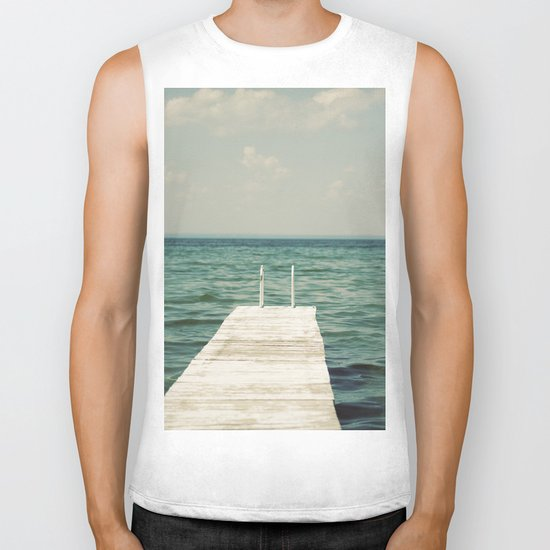 Mint Lake Escape  Biker Tank