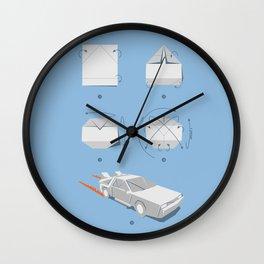 Origami DeLorean Wall Clock