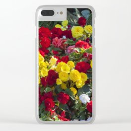 Begonias in Flower Clear iPhone Case