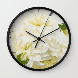 Cream Peonies | Flowers | Flower | Florals | Nadia Bonello | Canada Wall Clock