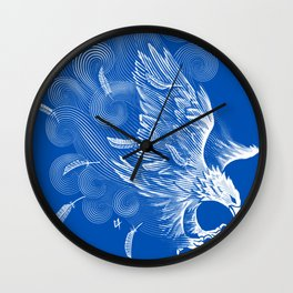 Windy Wings Wall Clock