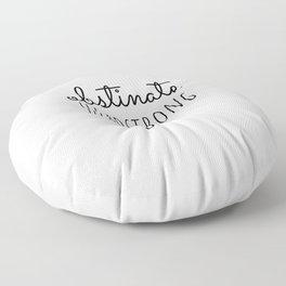 Obstinate Headstrong Girl Jane Austen  feminist Quote Gift Floor Pillow