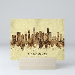 Vancouver Canada Cityscape Mini Art Print