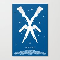 """hot fuzz Canvas Prints featuring 3 Flavors Trilogy #2 - """"Hot Fuzz"""" by Ghost-Hat Designs"""