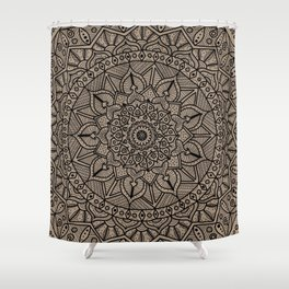 Circle of Life Mandala Brown Shower Curtain