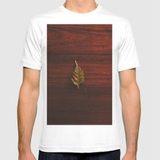 LEAF - WOOD - NATURE - PHOTOGRAPHY White Mens Fitted Tee MEDIUM
