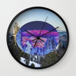Inverted Winter Wall Clock
