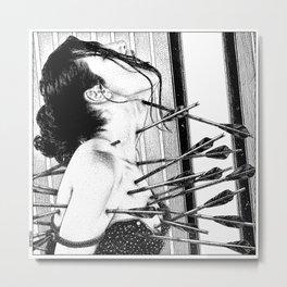 asc 778 - La lione blessée (Love is a killer) Metal Print