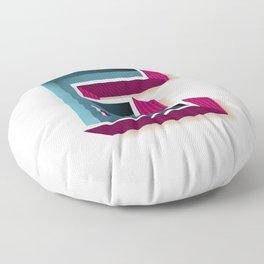 The Letter E Floor Pillow