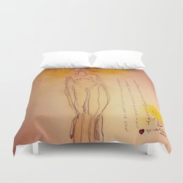 Lucille, The First Human Angel Duvet Cover