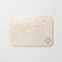 Music Heart old paper Bath Mat