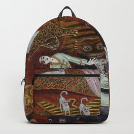 Crime of Passion (The Lovers Quarrel ) surreal portrait painting by Nils Dardel Backpack