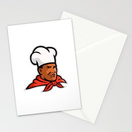 African American Chef Baker Mascot Stationery Cards