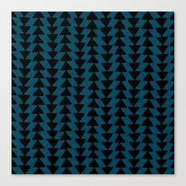 Blue Arrows Canvas Print