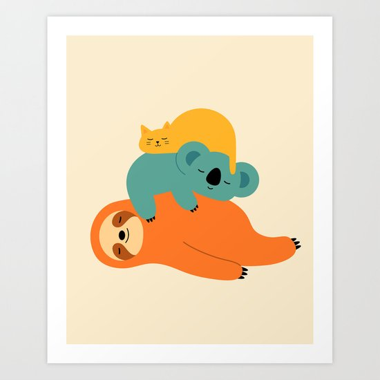 Being Lazy Art Print By Andy Westface Society6