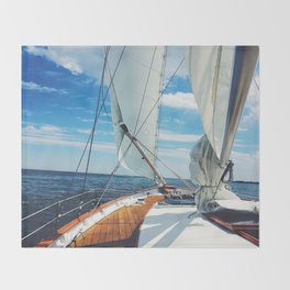 Sweet Sailing - Sailboat on the Chesapeake Bay in Annapolis, Maryland Throw Blanket