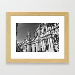 Piazza Navona, the ancient Stadium of Domitian, in Rome, Italy. Framed Art Print