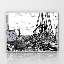 boats on the sea . artwork Laptop & iPad Skin