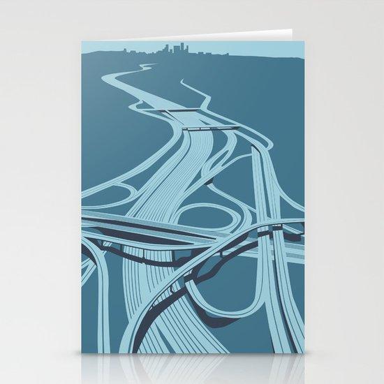 Los Angeles Freeways Stationery Cards